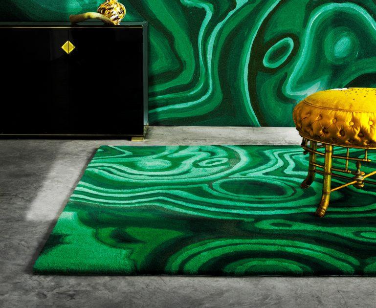 Malachite vert by pinton luxury rugs - Vert de malachite ...