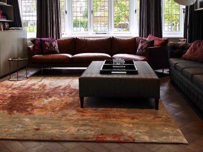 painterly luxury rug