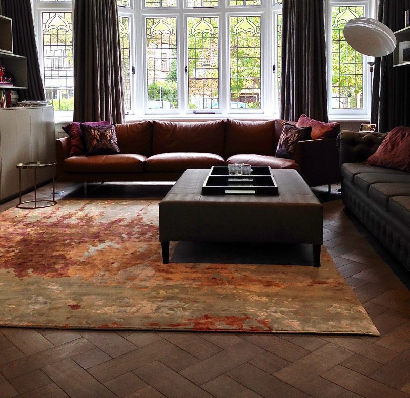painterly luxury rug